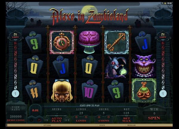 Грати Безкоштовно або на Гроші в Гральний Автомат Alaxe In Zombieland
