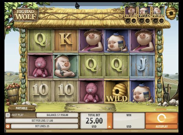 Грати Безкоштовно або на Гроші в Гральний Автомат Великий та Злий Вовк