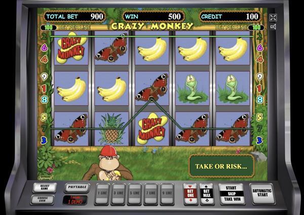 Грати Безкоштовно або на Гроші в Гральний Автомат Мавпочки