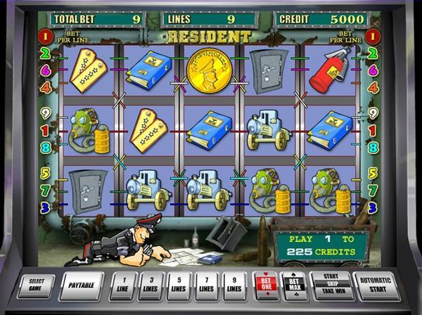 Грати Безкоштовно або на Гроші в Гральний Автомат Резидент