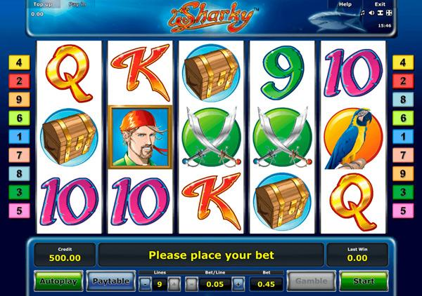 Грати Безкоштовно або на Гроші в Гральний Автомат Sharky