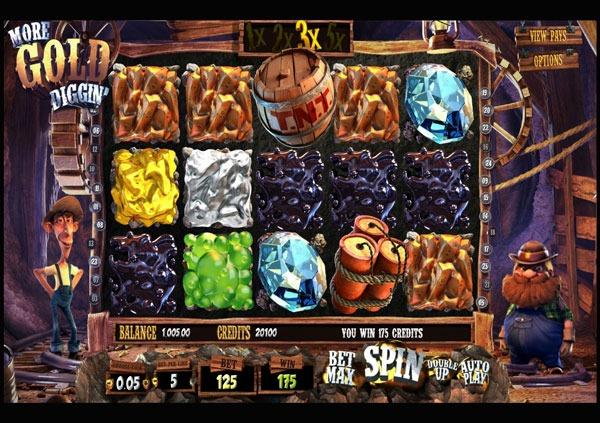 Играть Бесплатно или на деньги в игровые автоматы More Gold Diggin