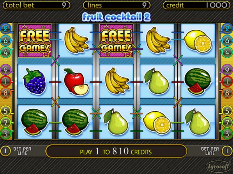 Играть Бесплатно или на деньги в игровые автоматы Fruit Cocktail 2