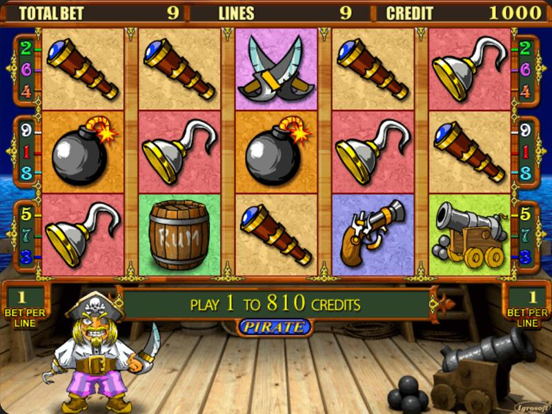 Грати Безкоштовно або на Гроші в Гральний Автомат Pirate
