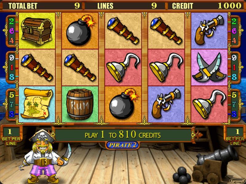 Играть Бесплатно или на деньги в игровые автоматы Pirate 2