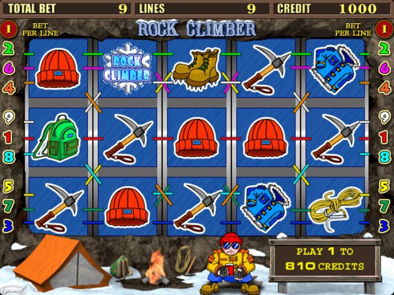 Грати Безкоштовно або на Гроші в Гральний Автомат Rock Climber