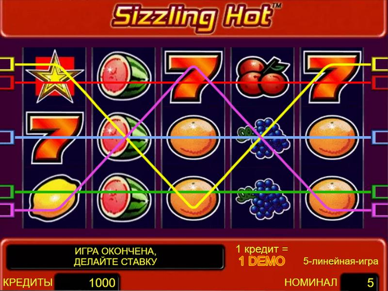 Грати Безкоштовно або на Гроші в Гральний Автомат Sizzling Hot