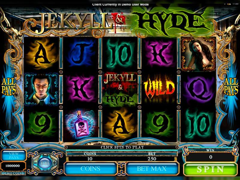 Грати Безкоштовно або на Гроші в Гральний Автомат Jekyll And Hyde