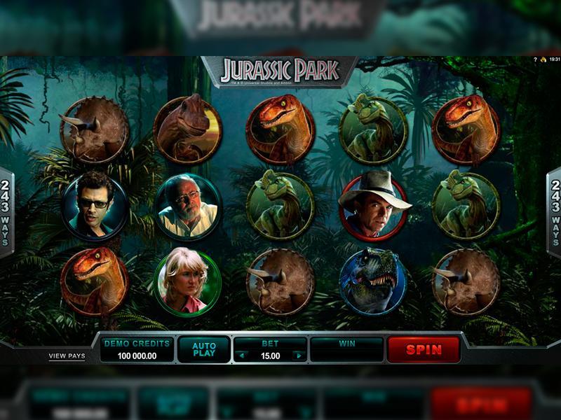 Играть Бесплатно или на деньги в игровые автоматы Jurassic Park
