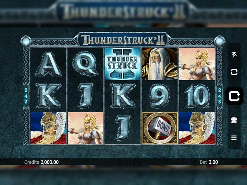 Играть Бесплатно или на деньги в игровые автоматы Thunderstruck 2