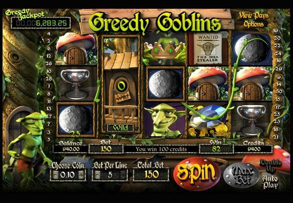 Грати Безкоштовно або на Гроші в Гральний Автомат Greedy Goblins
