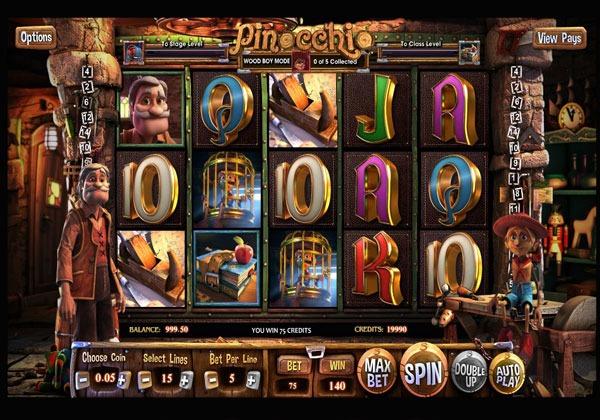 Грати Безкоштовно або на Гроші в Гральний Автомат Pinocchio