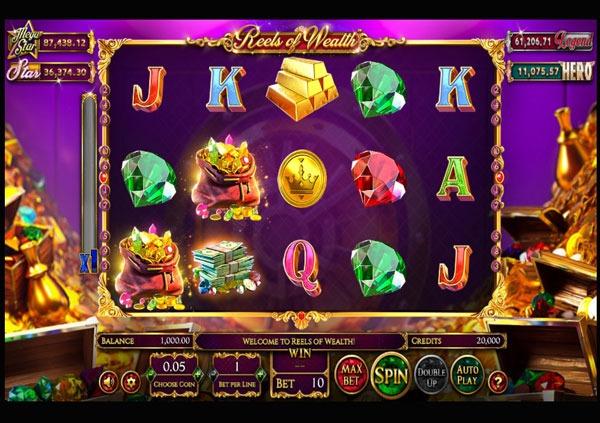 Грати Безкоштовно або на Гроші в Гральний Автомат Reels of Wealth