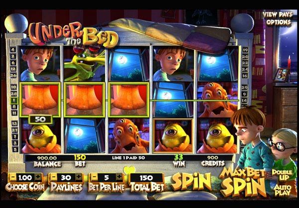 Грати Безкоштовно або на Гроші в Гральний Автомат Under The Bed