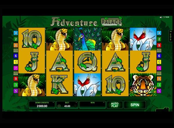 Грати Безкоштовно або на Гроші в Гральний Автомат Adventure Palace