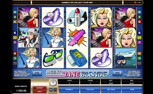 Грати Безкоштовно або на Гроші в Гральний Автомат Agent Jane Blonde