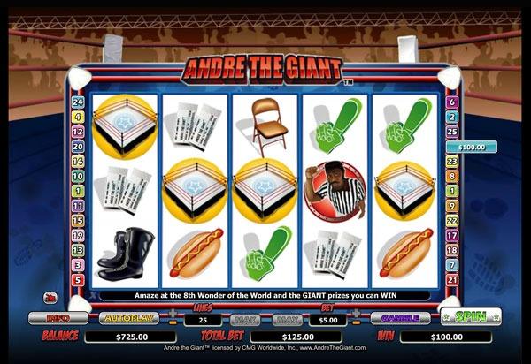 Грати Безкоштовно або на Гроші в Гральний Автомат Andre The Giant