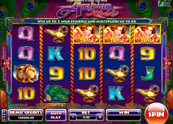Грати Безкоштовно або на Гроші в Гральний Автомат Arabian Rose