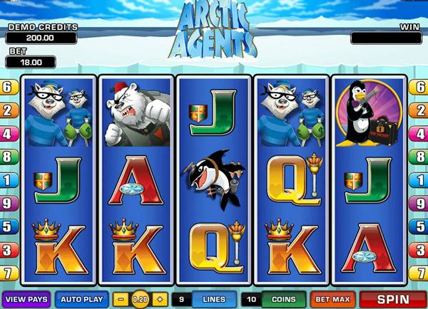 Играть Бесплатно или на деньги в игровые автоматы Arctic Agents