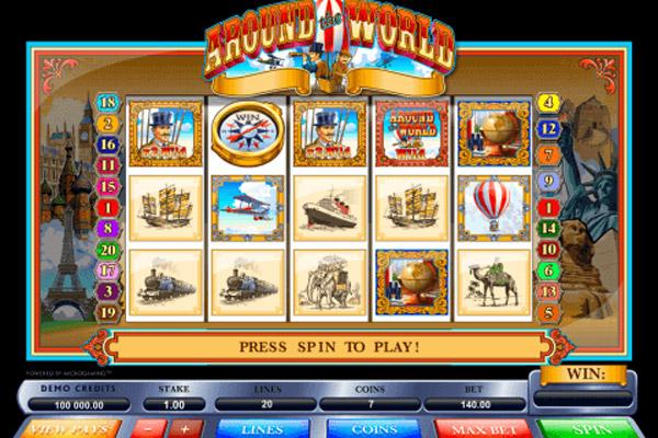 Играть Бесплатно или на Деньги в Игровой Автомат Around The World