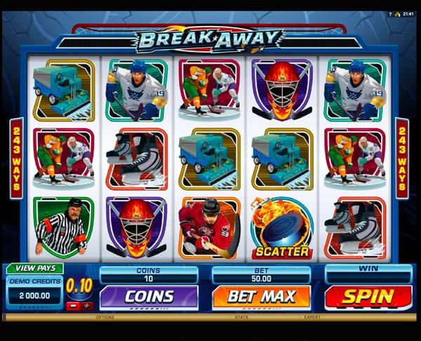 Играть Бесплатно или на деньги в игровые автоматы Break Away