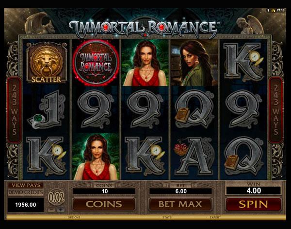 Играть Бесплатно или на деньги в игровые автоматы Immortal Romance