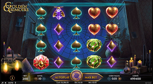 Играть Бесплатно или на деньги в игровые автоматы Golden Grimoire