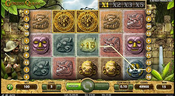 Грати Безкоштовно або на Гроші в Гральний Автомат Gonzos Quest