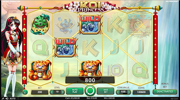 Грати Безкоштовно або на Гроші в Гральний Автомат Koi Princess