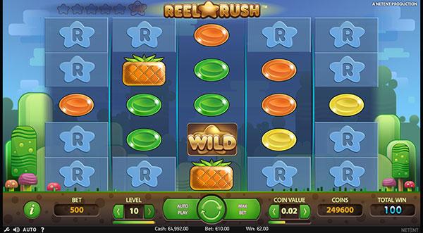 Играть Бесплатно или на деньги в игровые автоматы Reel Rush