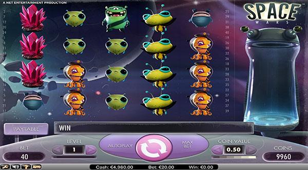 Грати Безкоштовно або на Гроші в Гральний Автомат Space Wars