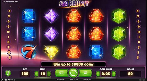Грати Безкоштовно або на Гроші в Гральний Автомат Starburst