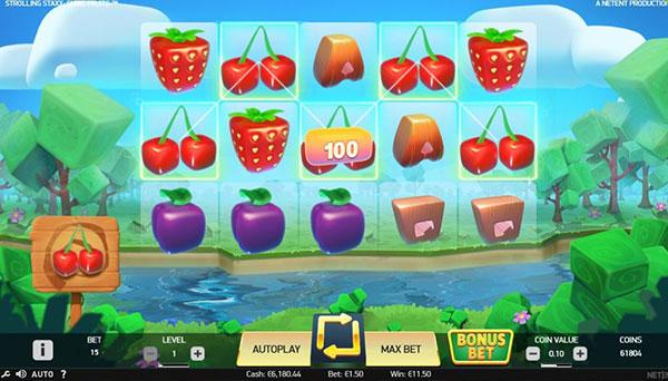 Грати Безкоштовно або на Гроші в Гральний Автомат Strolling Staxx