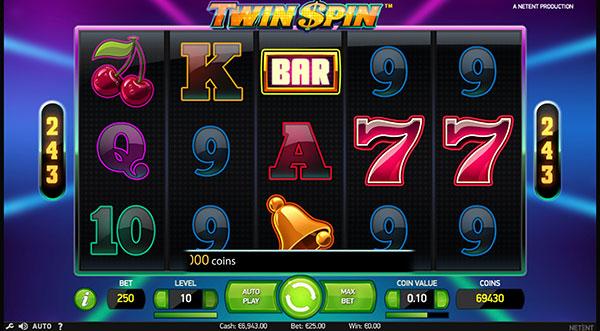 Грати Безкоштовно або на Гроші в Гральний Автомат Twin Spin